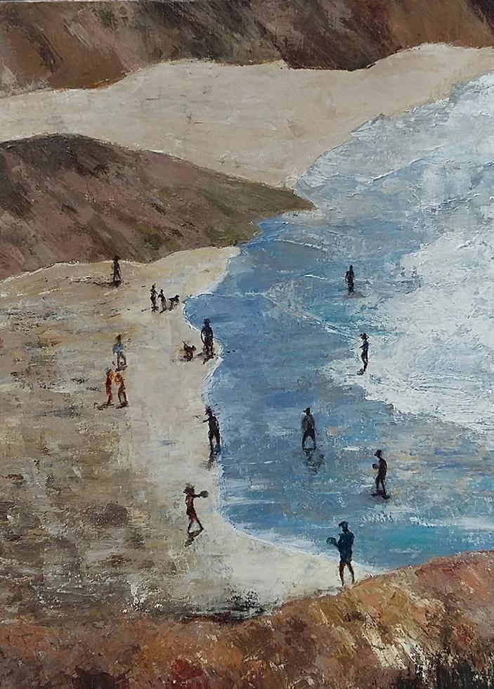 'Summertime', 60 x 80cm, Acryl op linnen, paletmes, 2019, €525,00